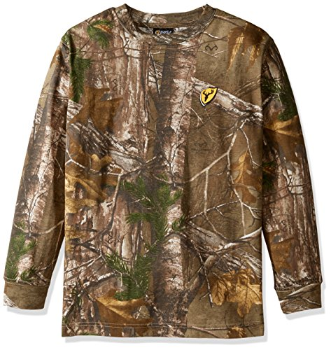 (Scent Blocker Youth Long Sleeve Cotton T-Shirt, Real Tree Xtra, Large)