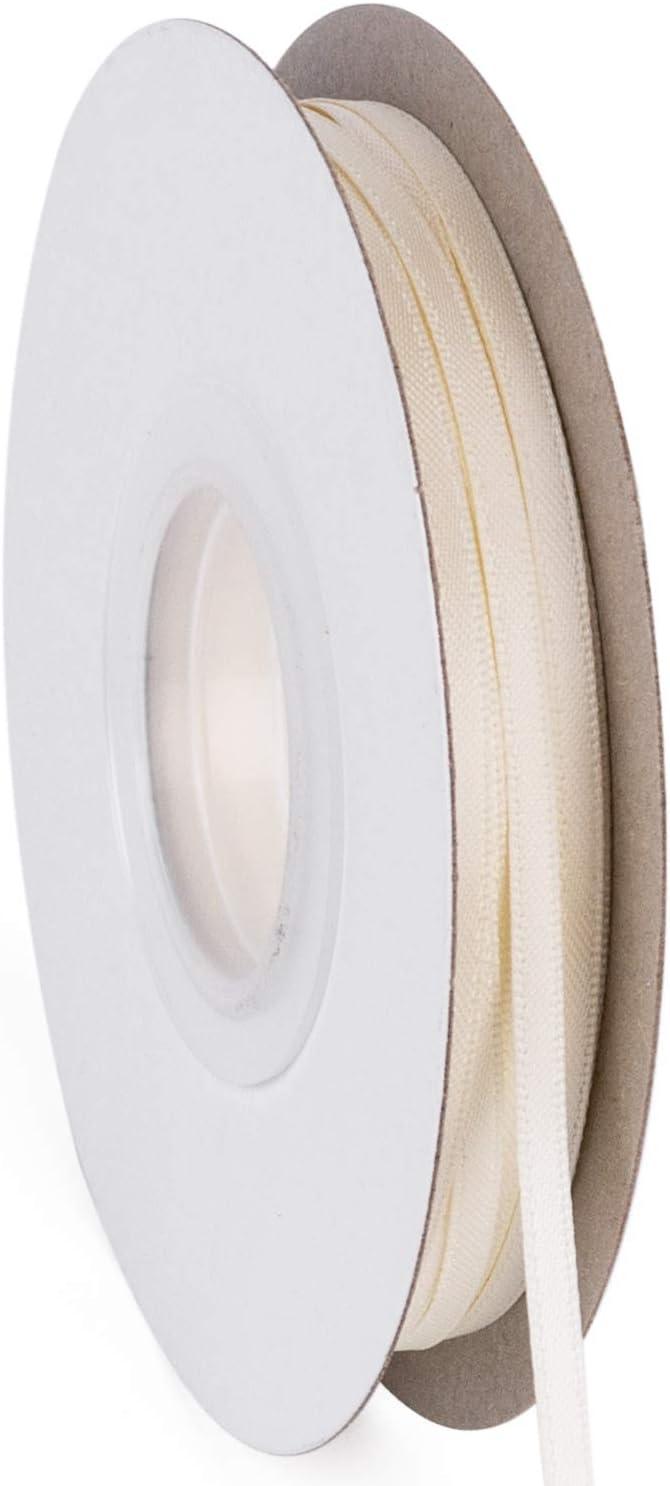 Fiocco per Capelli Confezione Regalo RUSPEPA Nastro in Raso Double Face 3MM per Artigianato Verde Deco per Matrimonio 50M