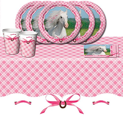 Heart My Horse Pony Children's Birthday Party Tableware Pack For 8