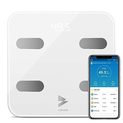 Bascula Baño Yuanguo Bascula Grasa Corporal Bascula Digital Peso para IOS y Android, 180 kg / 396 lb, hasta 17 Análisis de Composición Corporal ...
