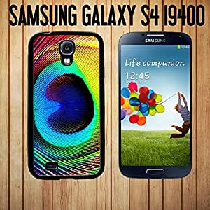 Beautiful Peacock Feather Custom made Case/Cover/Skin FOR Samsung Galaxy S4-Black- Rubber Case (Ship From CA) by mcsharks