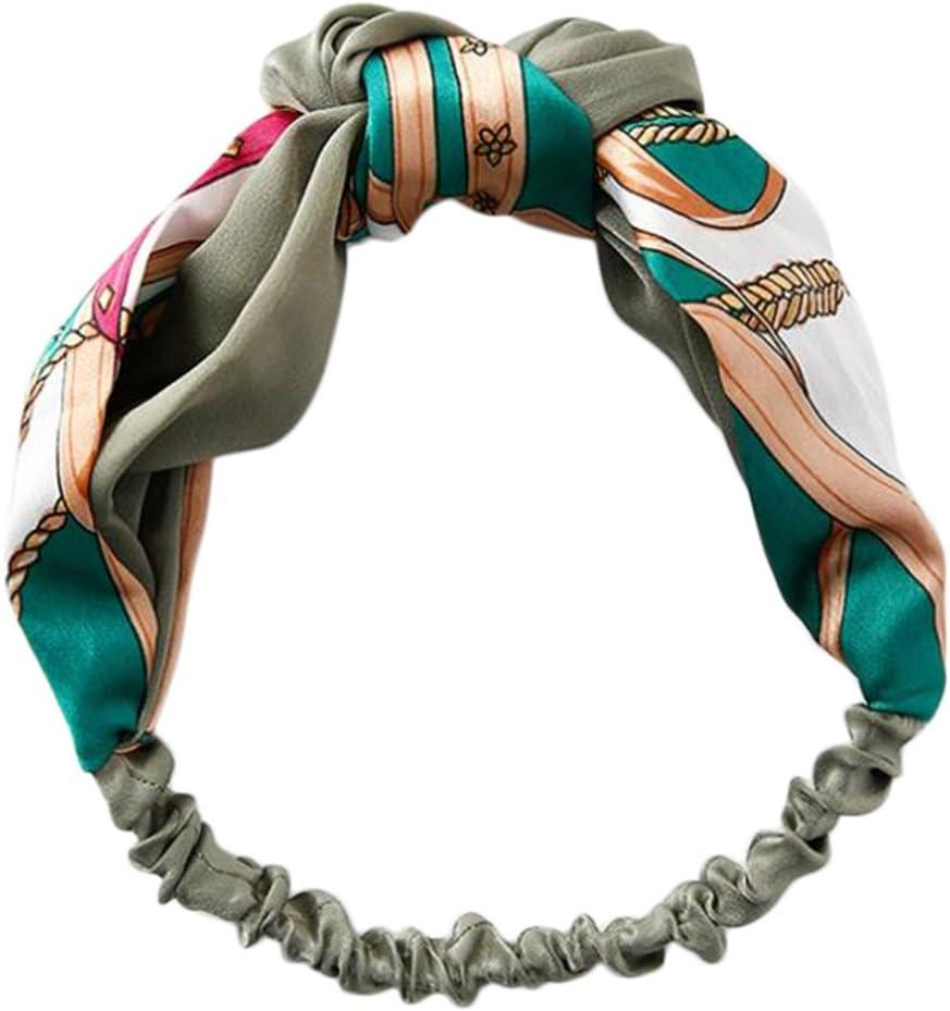 BIGBOBA Nero Modern Style Vintage Turbante Fasce Accessori per Capelli per Donne E Ragazze