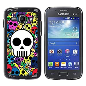 Impact Case Cover with Art Pattern Designs FOR Samsung Galaxy Ace 3 Skull Wallpaper Colorful Pirate Drawing Betty shop