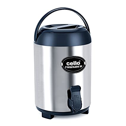 Cello Stainless Steel Insulated Water Jug Thunder, 6 litres, Grey
