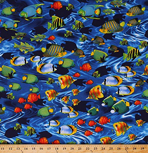 Cotton Tropical Fish Ocean Sea Animals Water Life