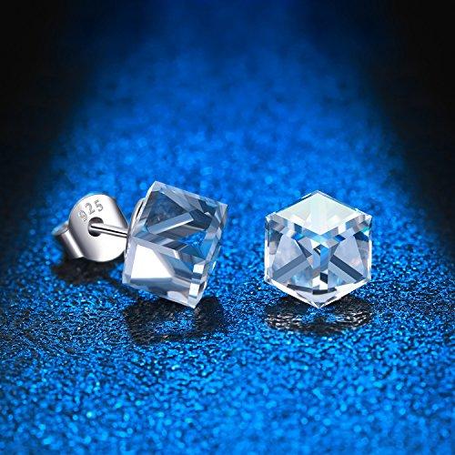4caaacae1980 En venta Swarovski® Cristales Pendientes Claro Color blanco cubo de 925  plata de ley para