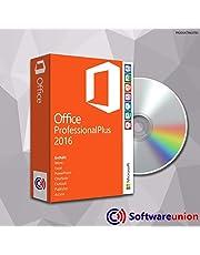 MS Office Professional Plus 2016 (32 Bit+64 Bit) mit DVD, Original Lizenz-Key, Produktschlüssel, Deutsche Lizenz, Anleitung von SWU Softwareunion