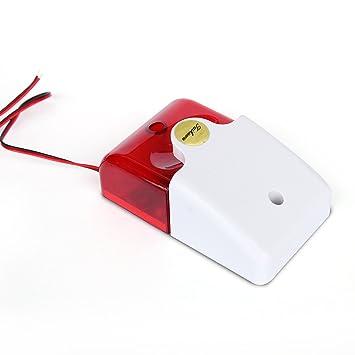 Taikuwu Siren - Sistema de alarma de sonido con cable para casa, empresa, comunidad, almacén, 12 V, 105 dB