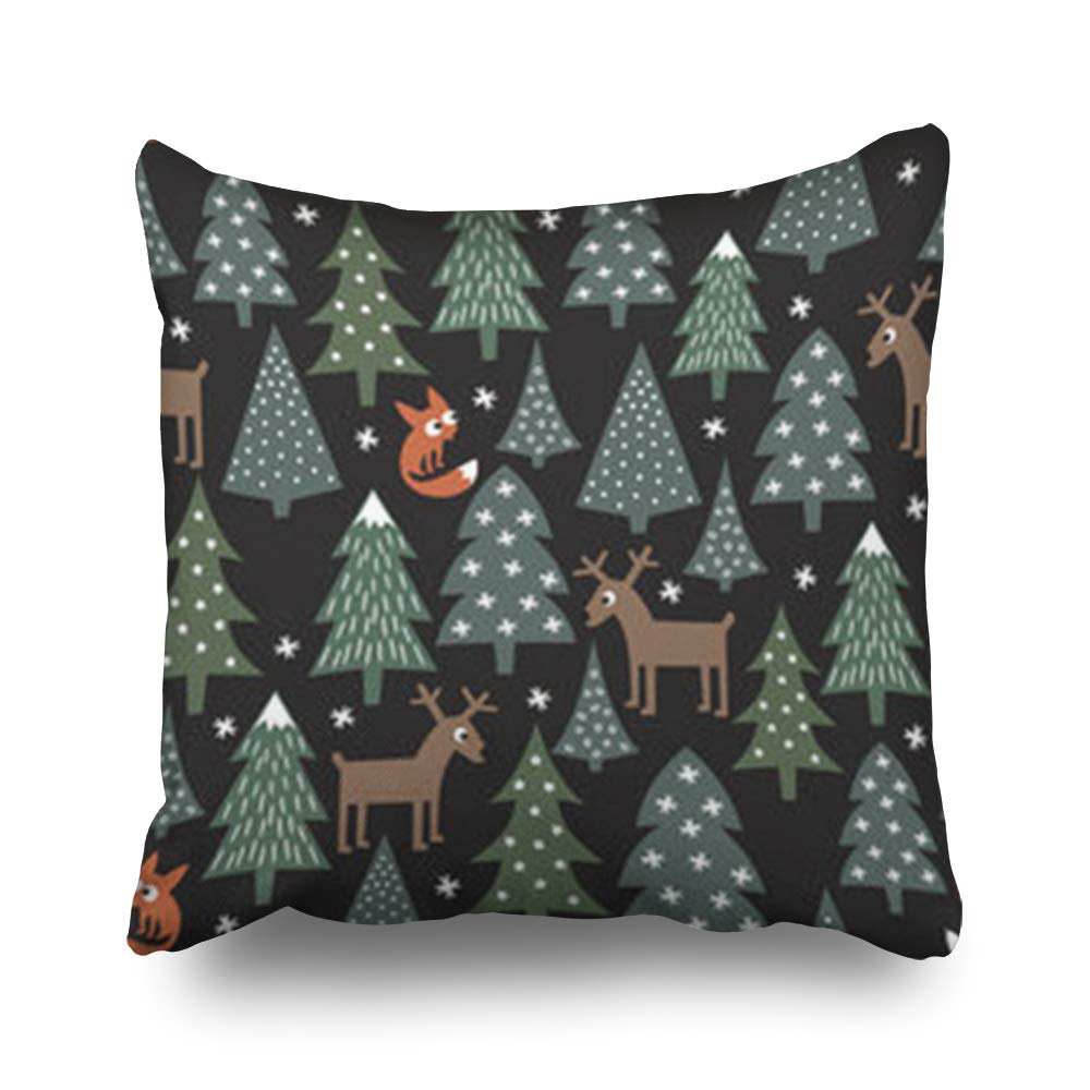 Decor Champ Throw Pillow Covers Plaid Tartan Pattern Scottish Black Severe Pillowcase Square Size 16 x 16 Inches Decorative Home Sofa Cushion Cases