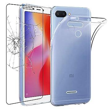 ebestStar - Funda Xiaomi Redmi 6 6A Carcasa Silicona, Protección Crystal Clear TPU Gel, Ultra Slim Case, Transparente + Cristal Templado Protector ...