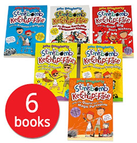 Stinkbomb and Ketchup-Face Collection - 6 Books Set