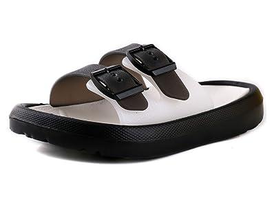 2b3370ead9 LONSOEN Boys Girls Lightweight Slide Sandals Kids Beach Pool Bath Slippers  Pool Water Shoes(Toddler