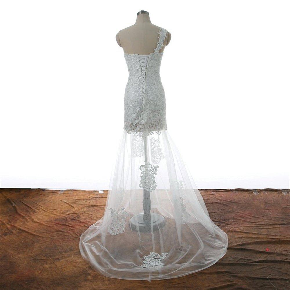 ffaee0c9423 Amazon.com: long Evening Dresses Sexy transparent One Shoulder lace up  Sweetheart a little dress prom dress Party Dress Handmade 2018: Handmade