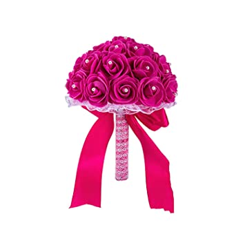 Amazon Com Artificial Flowersmany Colors Foam Flower Bridesmaid