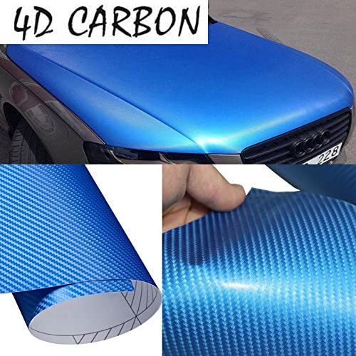 Vvivid Xpo Blue Metallic 3D carbon fiber vinyl car wrap decal