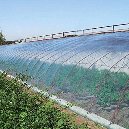 Topeakmart Greenhouse Plastic Film Clear Polyethylene UV Resistant Greenshouse Cover Greenhouse Plastic,12 ft Wide x 25 ft Long by Topeakmart (Image #5)