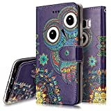 Cheap Galaxy S8 Case,Galaxy S8 Wallet Case, PHEZEN Aztec Owl Design Pu Leather Wallet Case with Card Slots Stand Book Style Folio Flip Cover For Samsung Galaxy S8, Owl