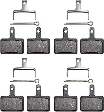 5 Pairs Bicycle Resin Disc Brake Pad Set For Shimano M375 M446 Tektro Auriga