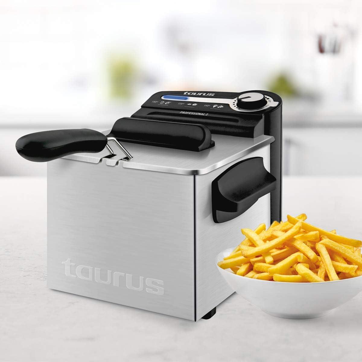 Taurus Professional 2 Plus Freidora, 2 litros, 1700 W, 18/8 ...