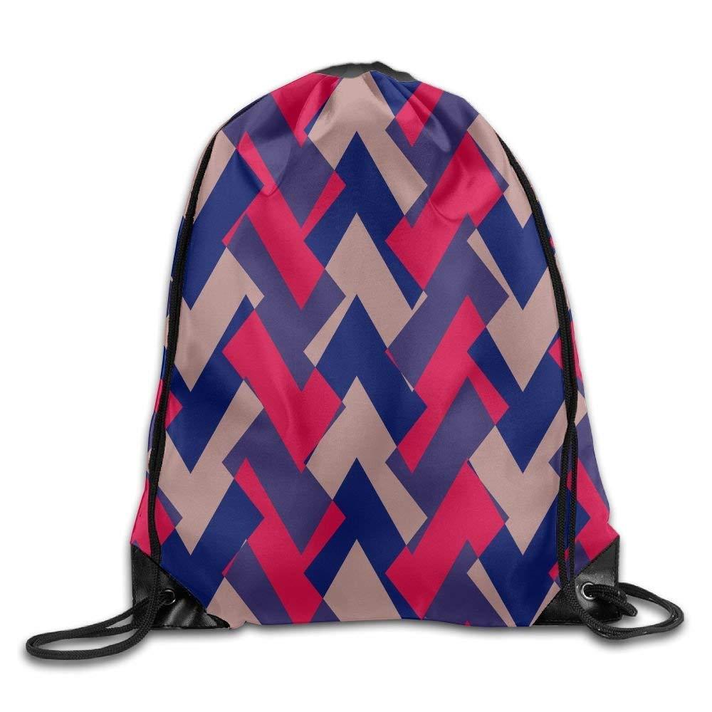 Naiyin Folding Sport Backpack Casual Daypacks for Team Group Men Women - (Geometric Blue Red)