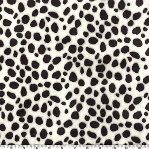 Shannon Fabrics Shannon Minky Cuddle Dalmatian Black/White Fabric by The Yard,