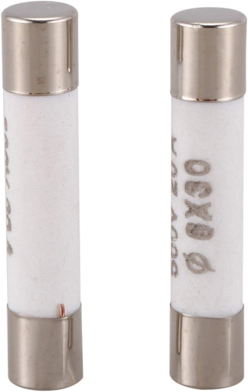 Nrpfell 10 Pieces 6mmx30mm 20A Lien Fusible en ceramique de soufflage rapide 500V