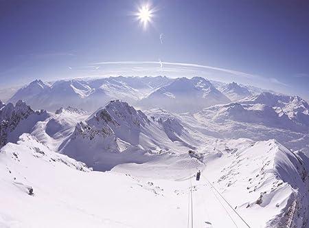 Empireposter Berge Schnee Foto Tapete 4 Teilig Fototapete
