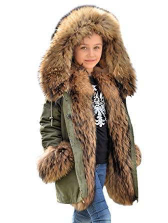 c5433742f Roiii Faux Fur Children Parka Jacket Coats Kids Universal Winter ...