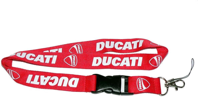Ducati Red Lanyard NEW UK Seller Keyring ID Holder Strap