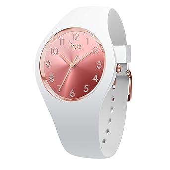 16c7c14065ea9 Ice-Watch - Ice Sunset Blush - Montre Blanche pour Femme avec Bracelet en  Silicone
