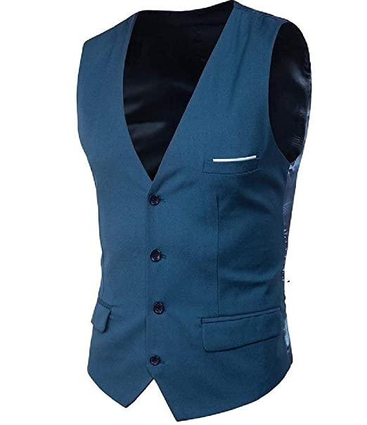 2e42a0ea3f Battercake Mens Blazer Slim Fit Tuxedos Waistcoat Vest Suit Wedding Men  Single Breasted Vest Comfortable V