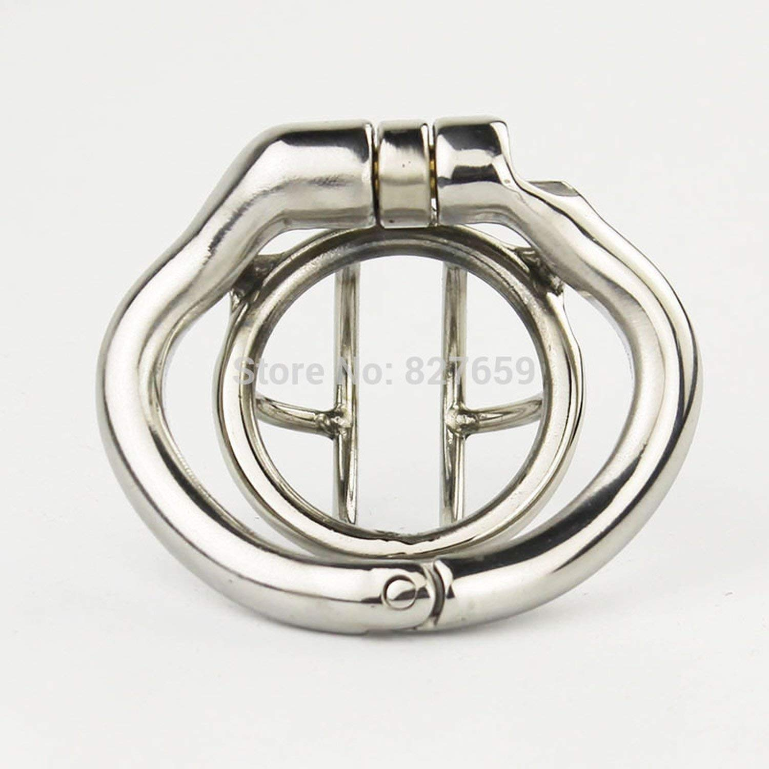 2018 Super Small Male Stainless Steel Cage with with arc-Shaped Ring Men Belt,38mm Ring by Little Sophie (Image #3)