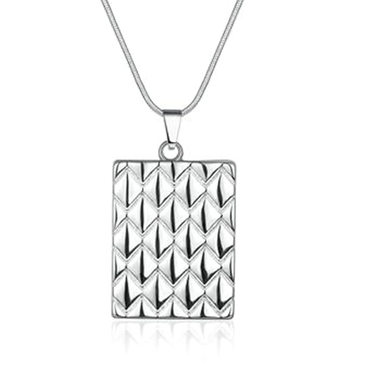 AMDXD Gioielli Placcato Oro Ciondolo Collane per Uomo Donna Argento Pineapple Pattern Piazza Ciondoli