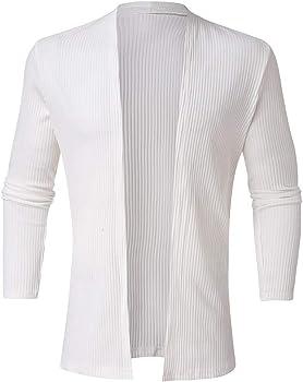 OPAKY Cardigan Abrigo Manga Larga Casual Suéteres para Hombres Cuello de Solapa Jersey de Punto Chaqueta de Trinchera de Punto Sólido de Moda para Hombres Chaqueta de Punto Blusa de Manga Larga: