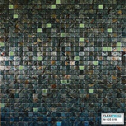 Amazon Flexipixtile Modern Aluminum Mosaic Tile Peel Stick