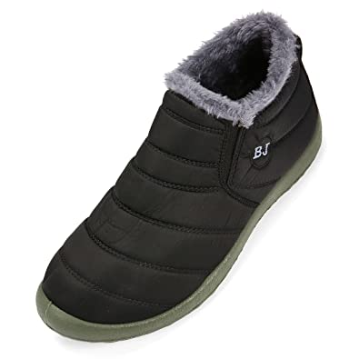 Gracosy Winter Snow Ankle Boots Fur Lining Waterproof Outdoor Slip On Booties  Sneakers for Man and