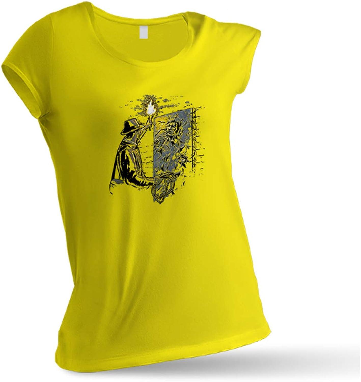JEMASHOP Camiseta Mujer Amarilla Indiana Jones Y HAN Solo. Harrison Ford (XS-XXL): Amazon.es: Ropa y accesorios