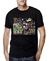 Jack Skellington Christmas all Characters for Men T Shirt