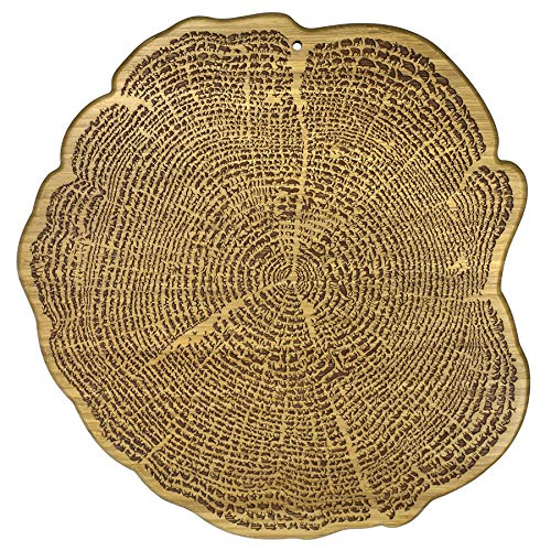 Totally Bamboo Tree of Life Bamboo Serving and Cutting Board with Laser-Engraved Animal Artwork ()