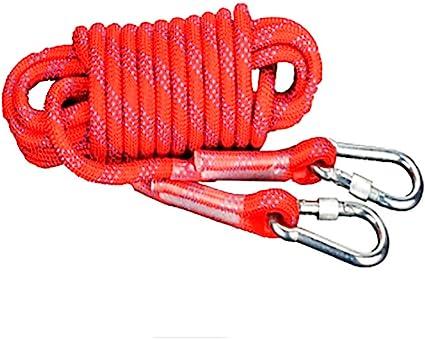 Cuerdas de Escalada 10mm / 12mm / 14mm Rojo al Aire estático ...