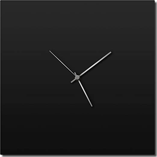 Contemporary Wall Clock Modern Kitchen Clock Silver Decor Minimalist Art Clock