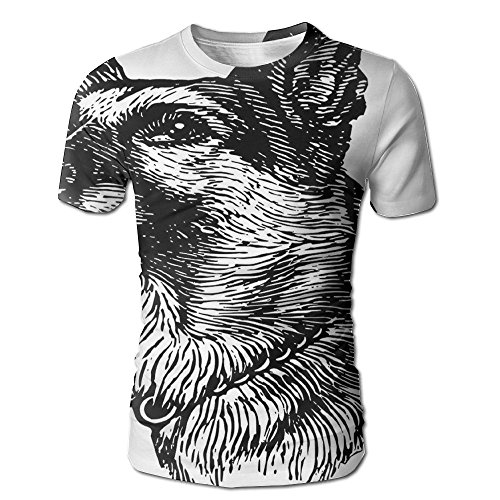 Kooiico Mens Animal Pencil Sketchy Image Of Dogs Human Best Friend Guardian Police Animal Artwork Cool Tees White L]()