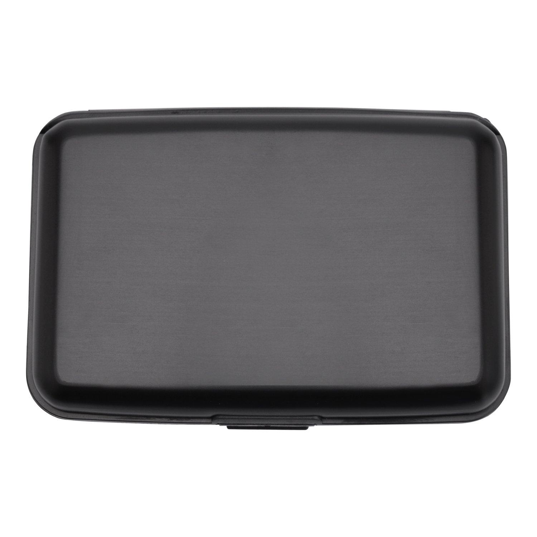 MaxGear RFIDブロックウォレット クレジットカードホルダー クレジットカード財布 本革ウォレット B075RSNRXS Luggage-card-case-m02-black Luggage-card-case-m02-black