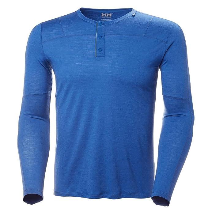 3428046c Helly Hansen Men's Hh Merino Light Button Ls T-Shirt: Amazon.co.uk ...