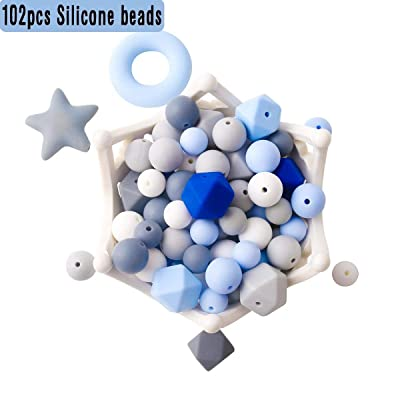 Baby Silicone Beads for Teething Necklaces 102pcs Loose Bead for Sensory Teethers Candy Series Nursing Pacifier Clip Bracelets Fashionable Jewelry : Baby