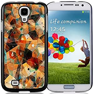 NEW Unique Custom Designed Samsung Galaxy S4 I9500 i337 M919 i545 r970 l720 Phone Case With Abstract Triangles Connected Lines_Black Phone Case