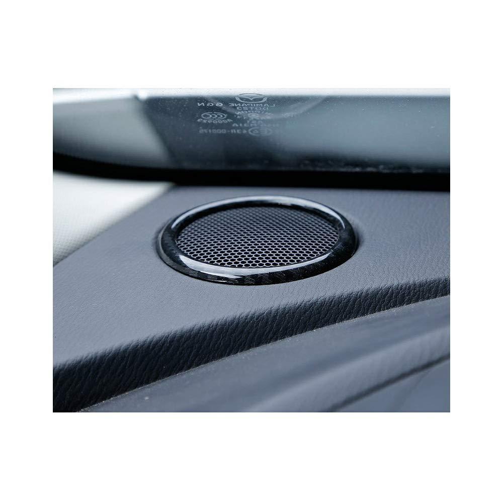 YP Carbon Fiber Innenraum Armaturenbrett Lautsprecherring Abdeckung Abdeckung Abdeckung f/ür Mazda CX-3 2015-2018