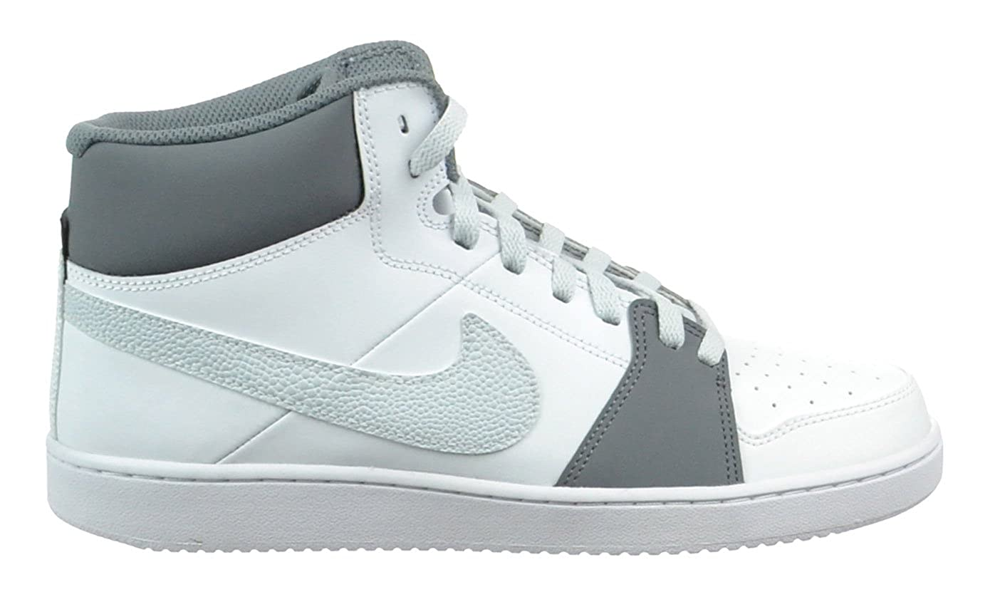 separation shoes 56c28 98573 Amazon.com  Nike Backboard II Mid Mens Basketball Shoes Leather  WhitePure PlatinumCool Grey WhiteGrey 487656-109-13  Fashion Sneakers