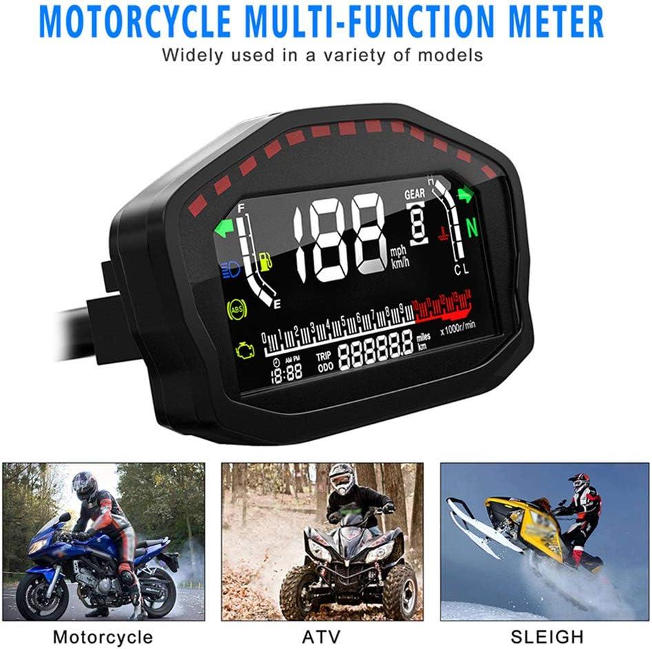 universal LCD digital motorcycle speedometer tachometer Colorful speedometer odometer for 2 4 cylinders motorcycle speedometer LCD digital tachometer Kylewo Motorcycle speedometer