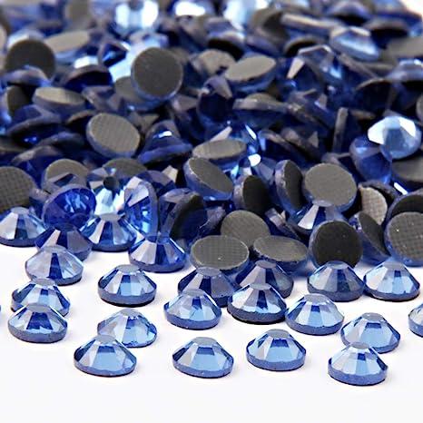 Sapphire Flat Back Hotfix//Iron On Rhinestones Diamante Gems AAA Quality